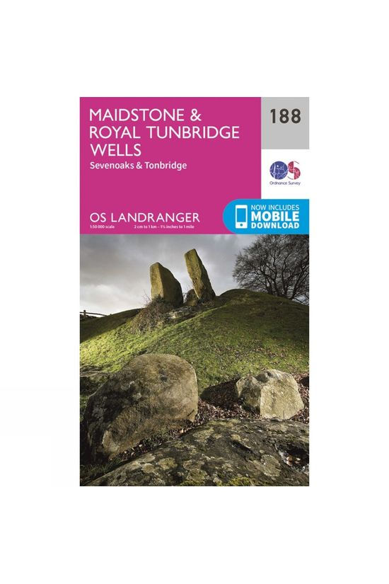 Ordnance Survey Landranger Map 188 Maidstone and Royal Tunbridge Wells V16
