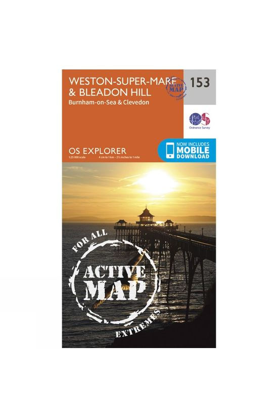Ordnance Survey Active Explorer Map 153 Weston-super-Mare and Bleadon Hill V15