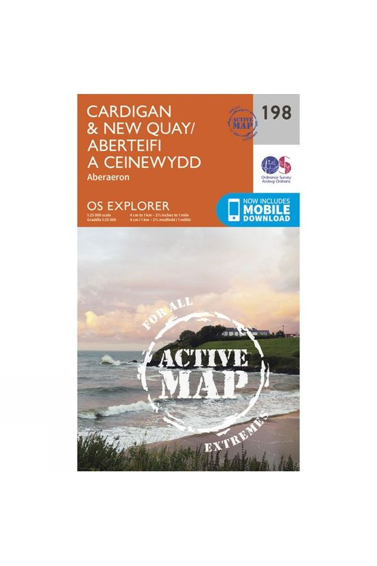 Ordnance Survey Active Explorer Map 198 Cardigan and New Quay V15