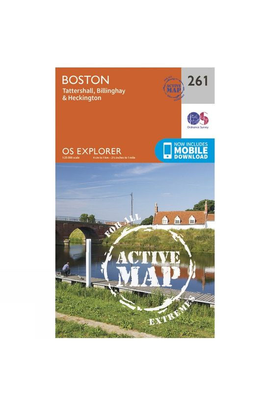 Ordnance Survey Active Explorer Map 261 Boston V15