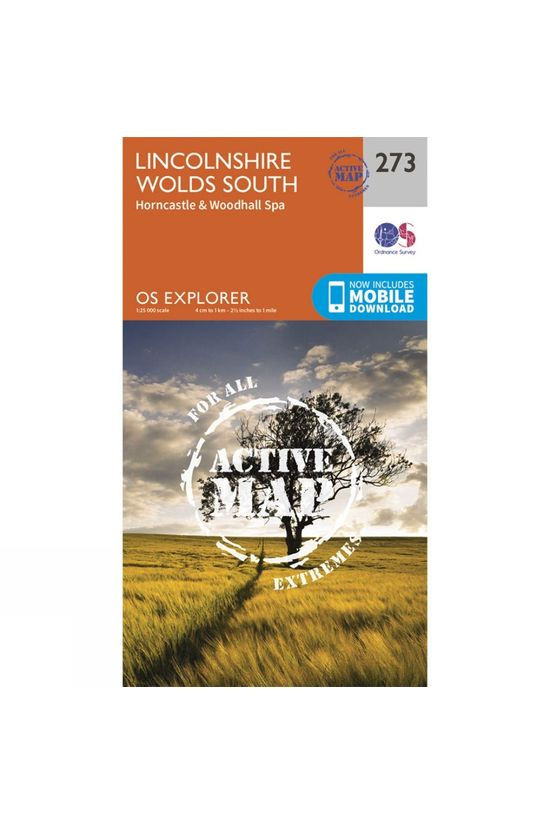 Ordnance Survey Active Explorer Map 273 Lincolnshire Wolds South V15