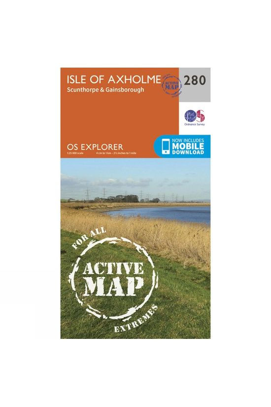 Ordnance Survey Active Explorer Map 280 Isle of Axholme V15