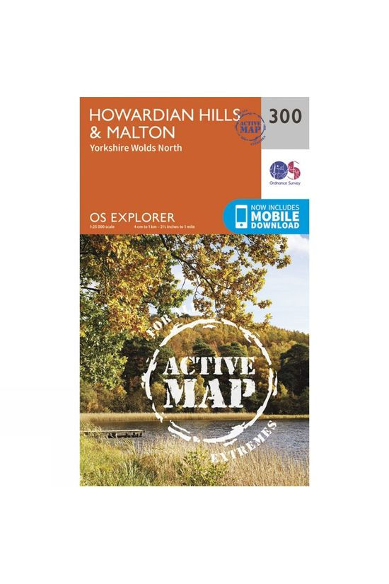 Ordnance Survey Active Explorer Map 300 Howardian Hills and Malton V15