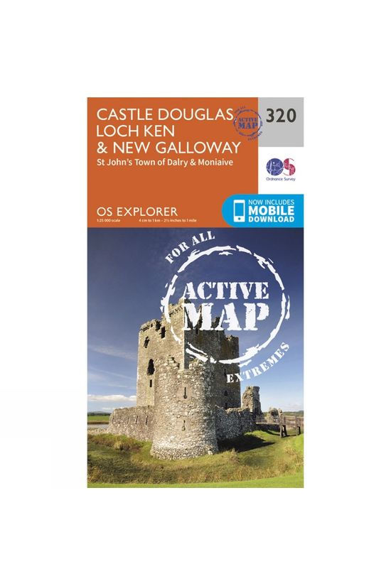Ordnance Survey Active Explorer Map 320 Castle Douglas, Loch Ken and New Galloway V15