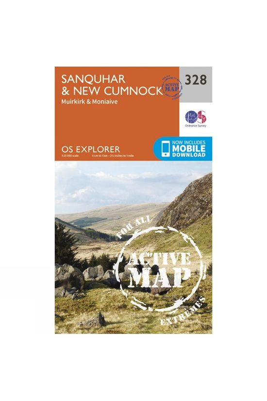 Ordnance Survey Active Explorer Map 328 Sanquhar and New Cumnock V15