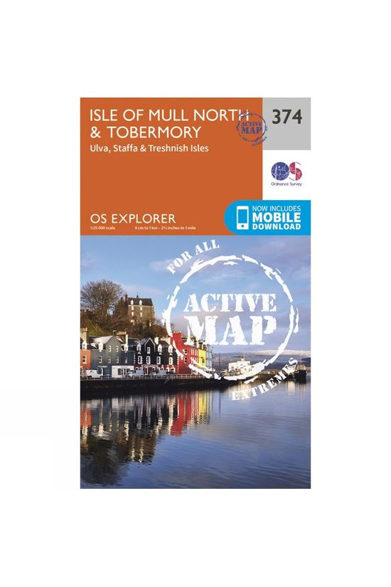 Ordnance Survey Active Explorer Map 374 Isle of Mull North and Tobermory V15