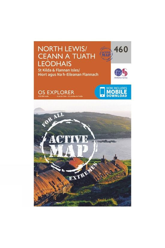 Ordnance Survey Active Explorer Map 460 North Lewis V15