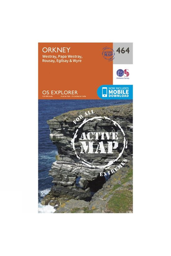 Ordnance Survey Active Explorer Map 464 Orkney - Westray, Papa Westray, Rousay, Egilsay and Wyre V15