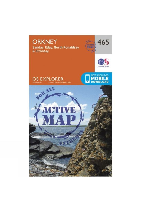Ordnance Survey Active Explorer Map 465 Orkney - Sanday, Eday, North Ronaldsay and Stronsay V15