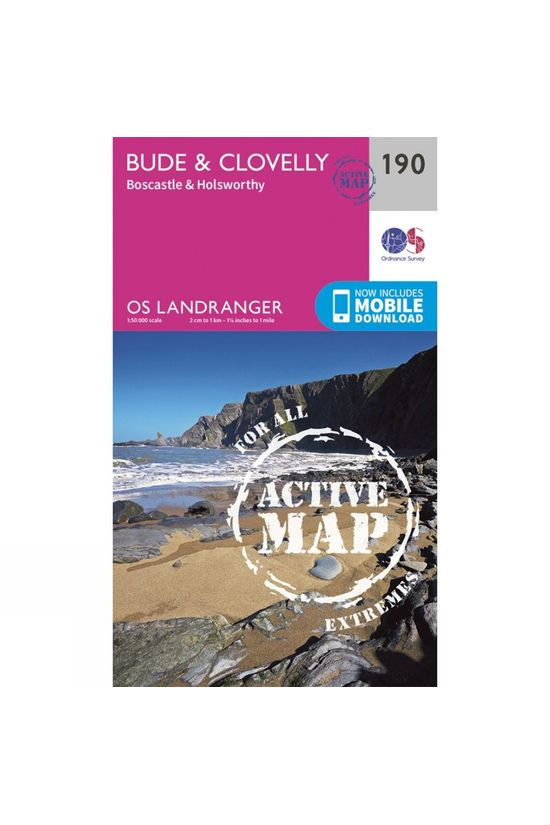 Ordnance Survey Active Landranger Map 190 Bude and Clovelly V16