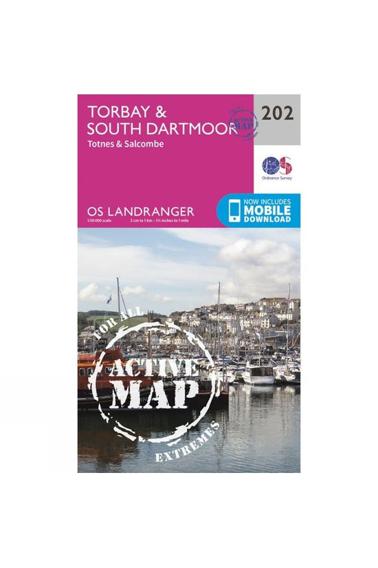 Ordnance Survey Active Landranger Map 202 Torbay and South Dartmoor V16