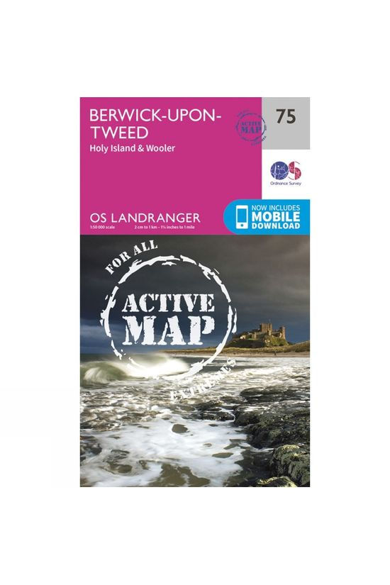 Ordnance Survey Active Landranger Map 75 Berwick-upon-Tweed V16