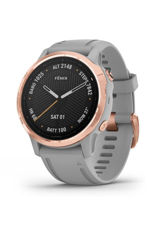 Garmin Fenix 6S Sapphire Multisport GPS Watch Rose Gold/Grey Band
