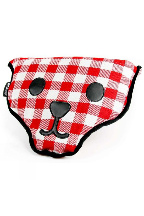 Suck UK Bear Shaped Picnic Blanket Chequered Red