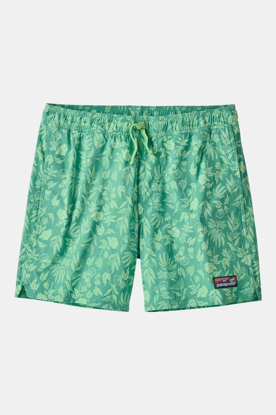 Patagonia Mens Stretch Wavefarer Volley Shorts 16in Fiber Flora: Light Beryl Green