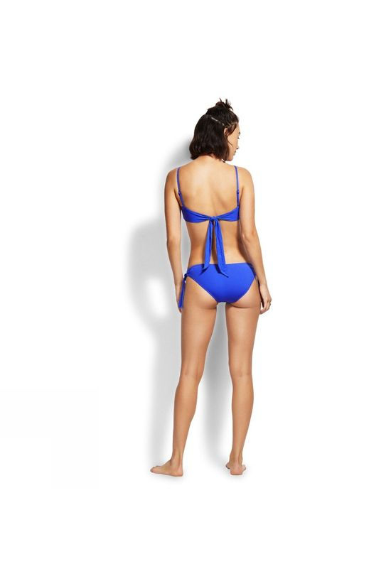 Seafolly Womens Active Ring Side Hipster Cobalt Blue