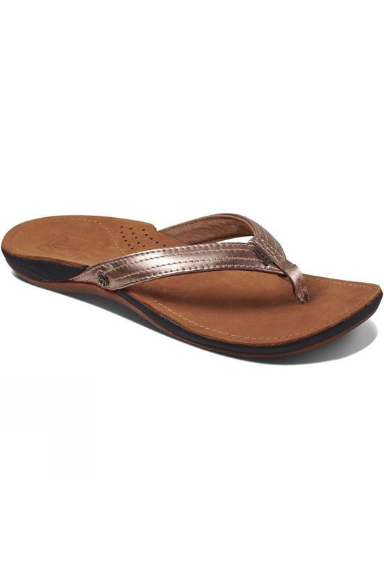 Reef Womens Miss J-Bay Flip Flop Rose Gold