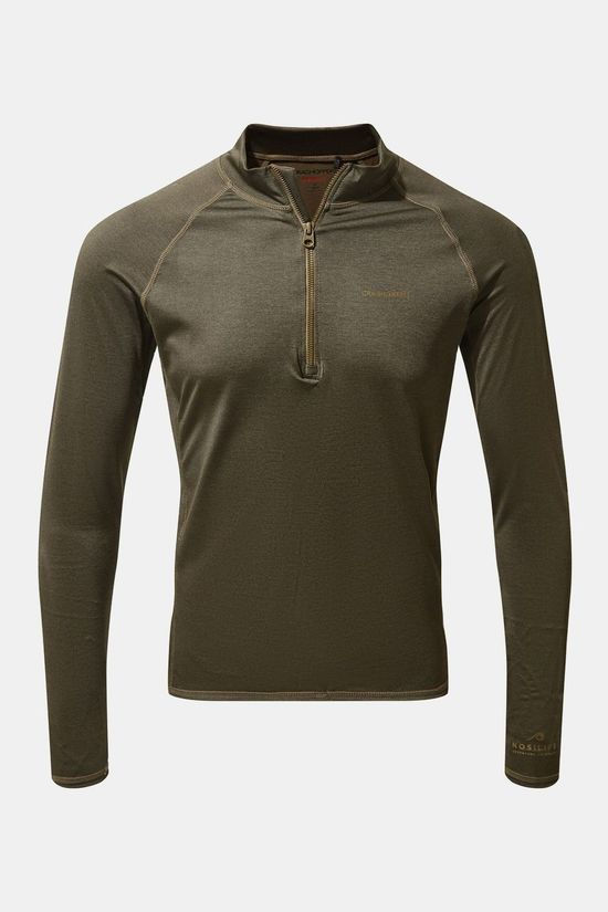 Craghoppers Mens Nosilife Helio Rash Vest Woodland Green Marl