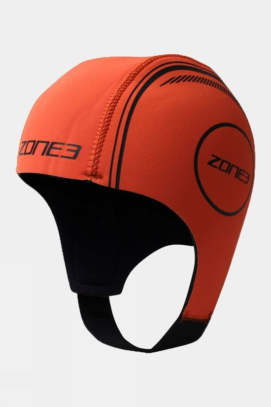 Zone3 Neoprene Swim Cap  High-Vis Orange