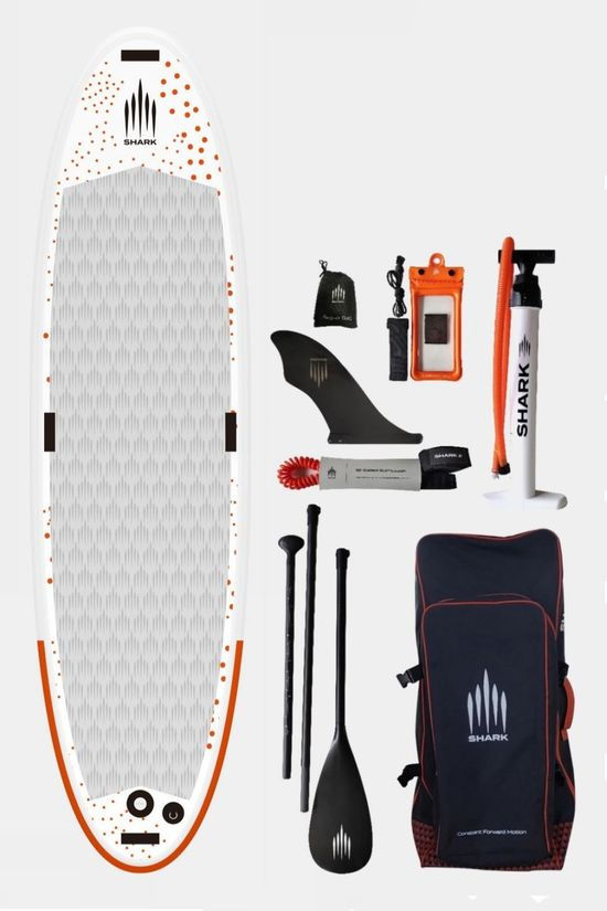 Shark 10'0 Yoga iSUP Paddle Board Package White/Grey/Orange