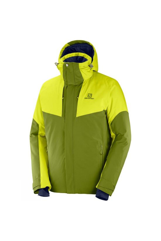 Salomon Mens Icerocket Jacket Avocado/Citronell