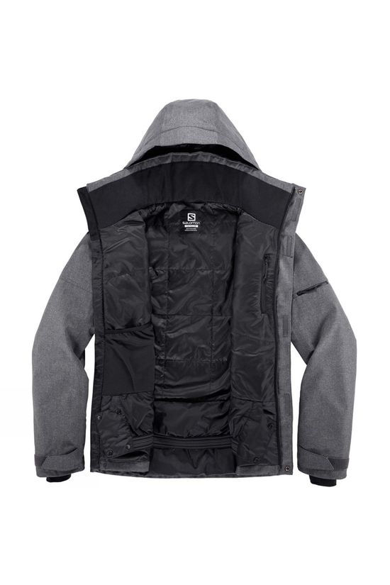 Salomon Mens Storm Slide Jacket Black Heather