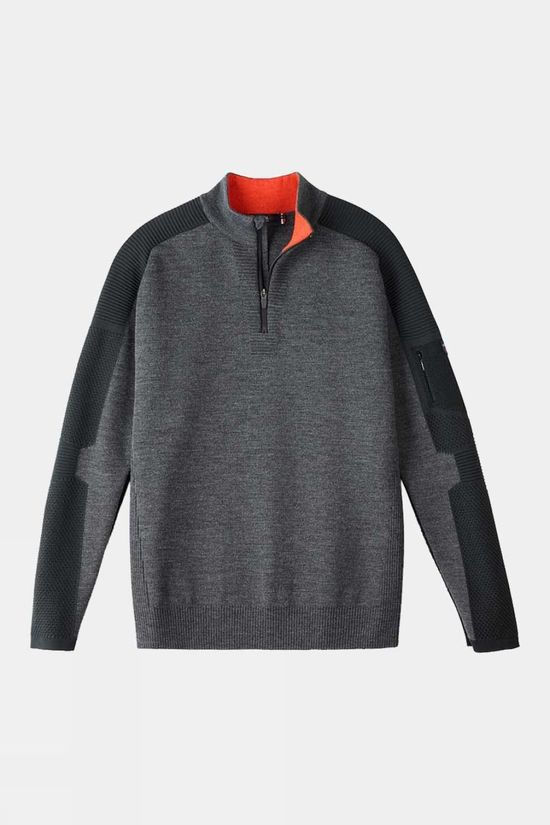Henjl Men's 1/2 Zip Merino Sweater Asphalt