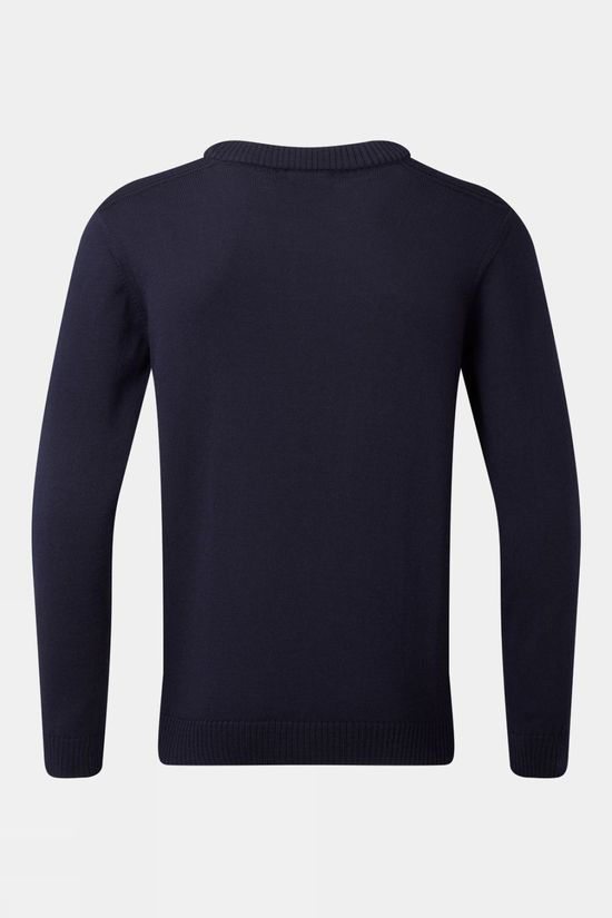 Henjl Men's Piste Artiste Merino Crew Neck Sweater Navy