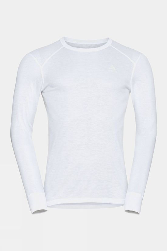 Odlo Mens Active Warm Eco Long-Sleeve Baselayer Top White
