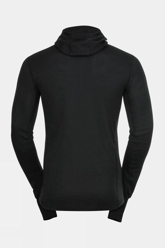 Odlo Mens Active Warm Eco Baselayer Top With Facemask Black