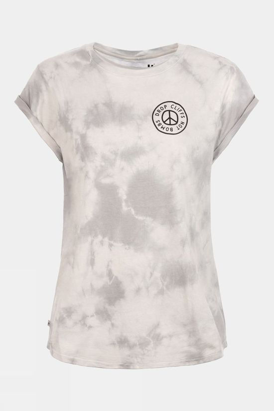 Planks Womens Peace Relaxed Short Sleeve T-Shirt Tie-dye (Light)