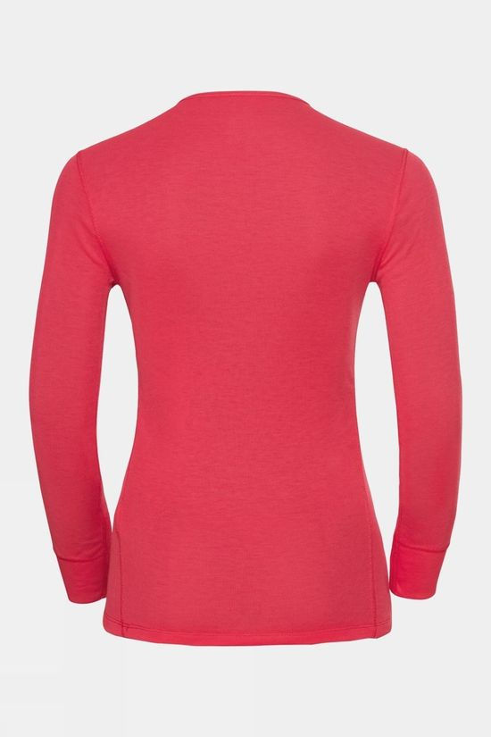 Odlo Womens Active Warm Eco Baselayer Set Hibiscus