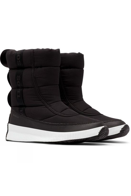 Sorel Womens Out and About Puffy Mid Boot Black