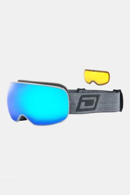 Dirty Dog Mens Mutant Prophecy Goggle Matte Grey Grey Marl / Blue Mirror
