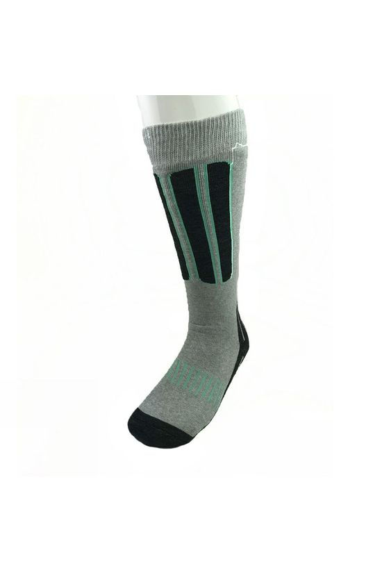 Snow and Rock Womens Comfort Zone - 2 Pack Ski Socks Black/Grey/Pink and Grey/Black/Aqua
