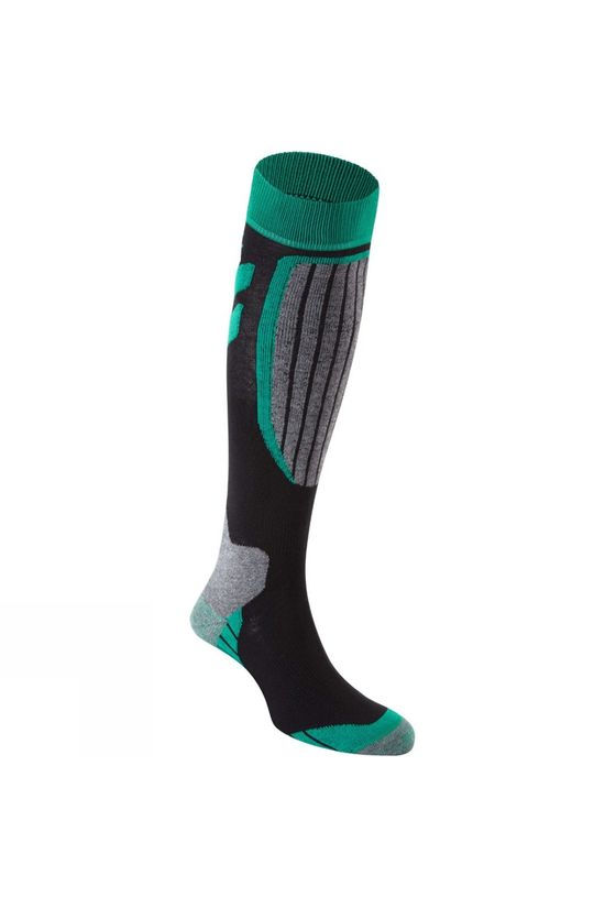 Snow and Rock Womens Performance Zone Socks Black / Grey / Aqua