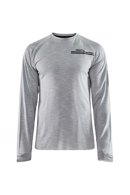 Craft Core Sence Long Sleeve Tee Grey Melange