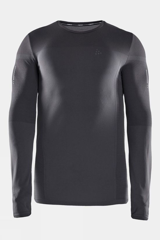 Craft Men's Urban Run FuseKnit Light Long Sleeve Tee Asphalt