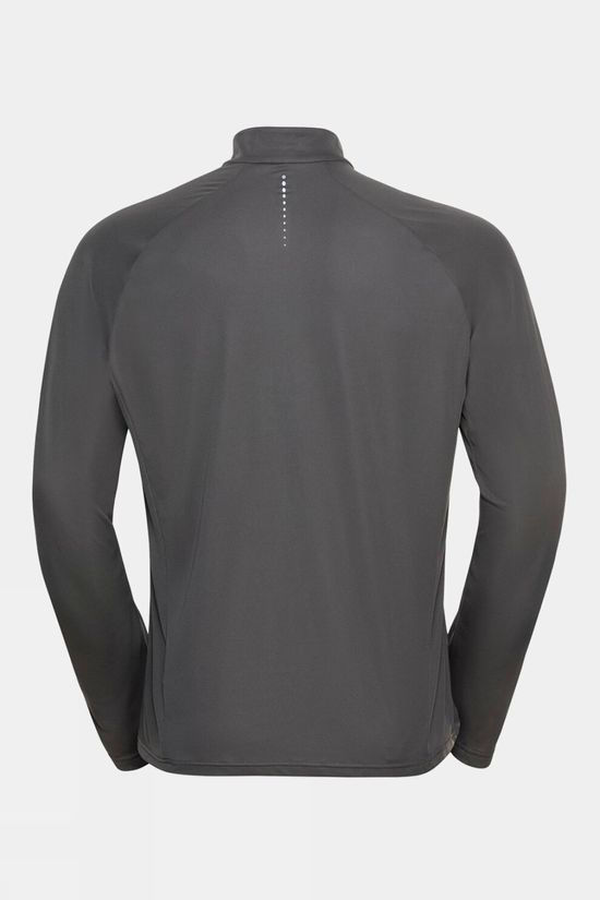 Odlo Mens Essential Half-Zip Midlayer Odlo Steel Grey