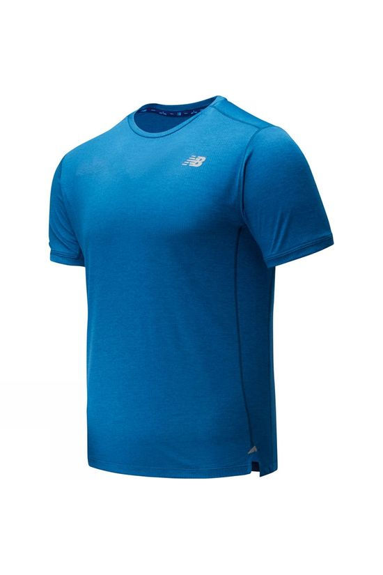 New Balance Impact Run Short Sleeve Tee Mako Blue