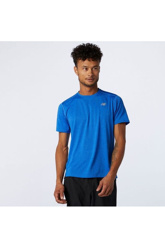 New Balance Impact Run Short Sleeve Tee Faded Cobalt