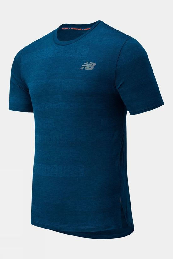 New Balance Mens Q Speed Jacquard Short Sleeve Tee Rogue Wave