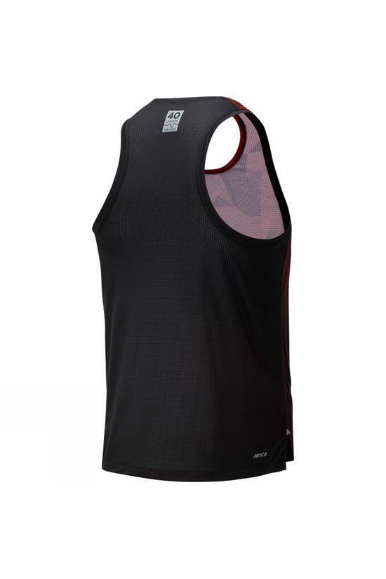New Balance London Edition Printed Impact Run Singlet Deep Red