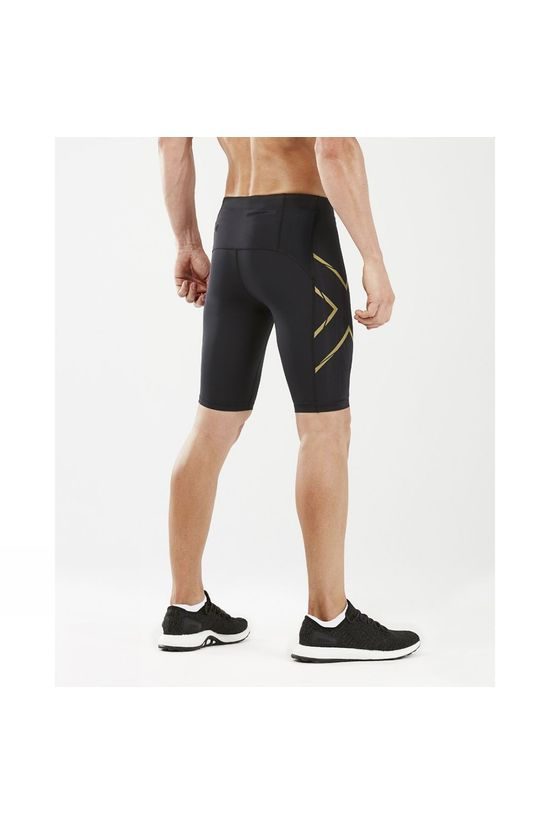 2XU Mens MCS Run Compression Shorts Black/Gold