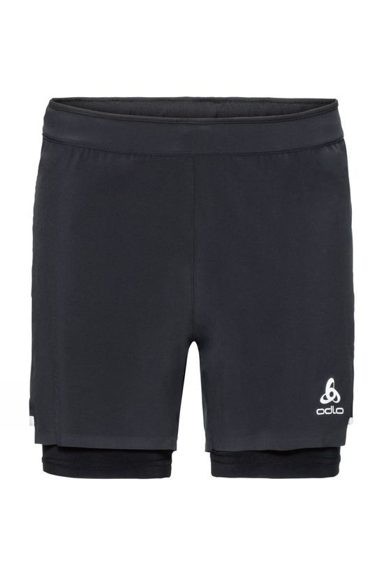 Odlo Mens Zeroweight Ceramicool Light 2-In-1 Shorts Black - Black