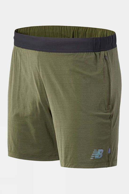 New Balance Mens Q Speed Fuel Short Oak Leaf Green