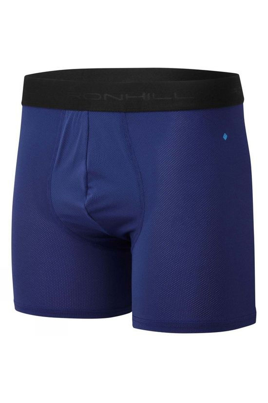 "Ronhill Men's 4.5"" Boxer Mid Blue/Electric Blue"
