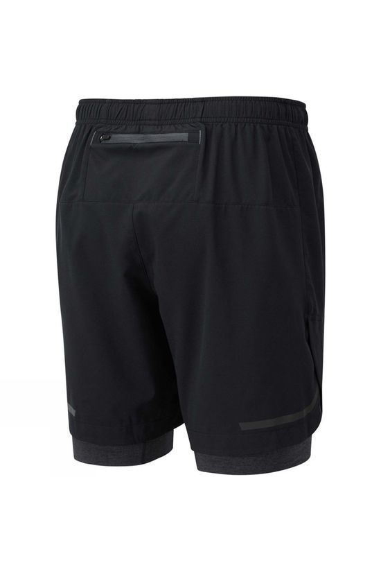 "Ronhill Men's Life 7"" Twin Short Black/Charcoal Marl"