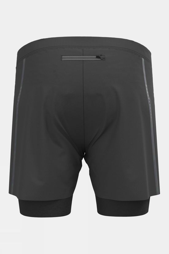 Odlo Mens Zeroweight 5inch Blackpack 2-in-1 Shorts Black
