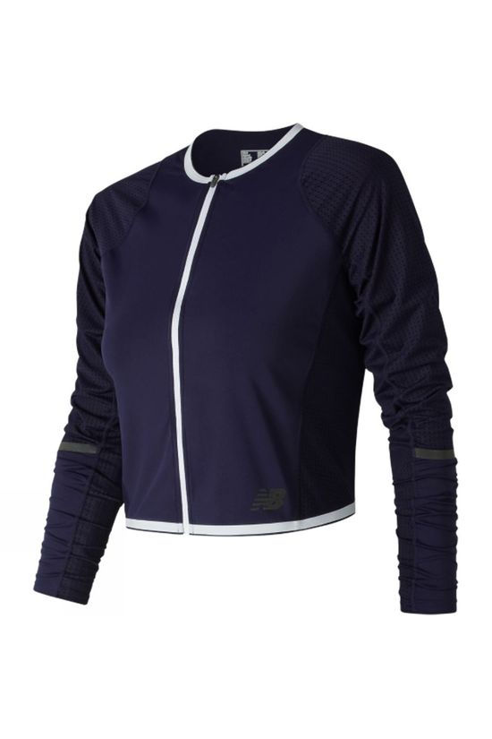 New Balance Womens Q Speed Crop Jacket Pigment